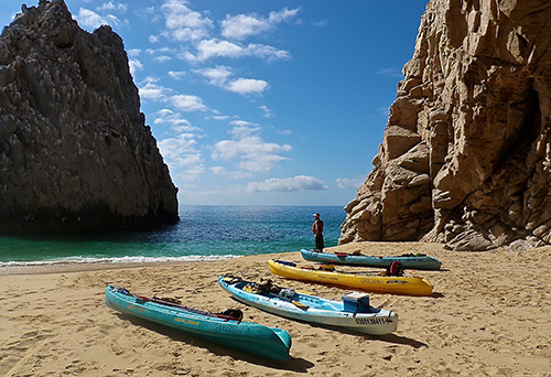 Lover's Beach with kayaks photo
