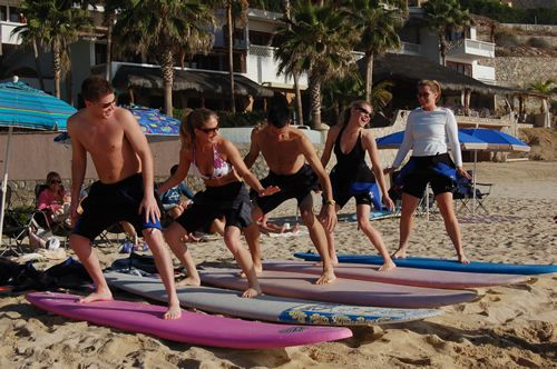 Surfing Lessons at Costa Azul
